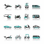 pic of aeroplane symbol  - Set of transport icons  - JPG