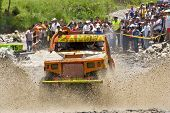 4X4 Racers Through Mud In Ecuador