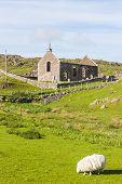 ruins of church in Stoer, Highlands, Scotland