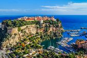 picture of palace  - the rock the city of principaute of monaco and monte carlo in the south of France - JPG
