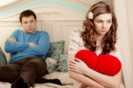 picture of love hurts  - Quarrel and hurt two loving home - JPG