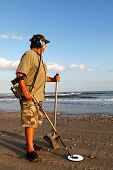 Metal Detecting The Beach