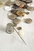 Thimble And Sewing Items