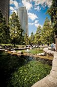 Jubilee Park At Canary Wharf, Docklands, London