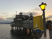 A Restaurant In Seaport Village At Dusk