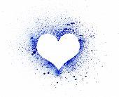 Grunge Heart, Ink Splatter