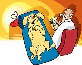 Dog At Psychoanalist