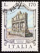 ITALY - CIRCA 1976: a stamp printed in Italy shows Fontana Antica (Old Fountain), the oldest fountai