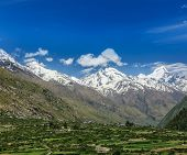 stock photo of himachal pradesh  - Valley in Himalayas - JPG