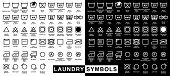 stock photo of laundry  - Icon set of laundry symbols - JPG
