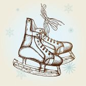 Drawing Of Skates
