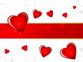 picture of corazon  - abstract red glossy heart background vector illustration - JPG