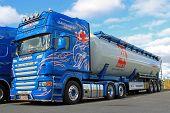 Blue Scania Truck