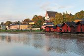 Finland.  Sunset In Porvoo