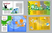 Magazine pages of city skyline. Vector