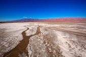 Death Valley National Park California Badwater salt soil desert
