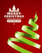 foto of lent  - Christmas tree from ribbon vector background - JPG
