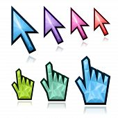 stock photo of fancy mouse  - Crystal mouse cursors  - JPG