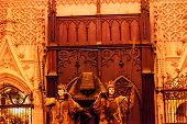 Christopher Columbus Crypt Statues Seville Cathedral Spain