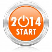 image of happy new year 2014  - new year 2014 icon - JPG