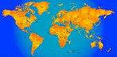 world timezone map vector illustration