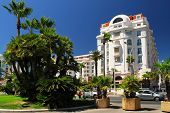 Luxury hotel on Croisette promenade in Cannes