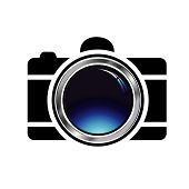 Digital Camera- photography icon with blue glow