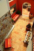 Courtyard of mediterranean villa in French Riviera