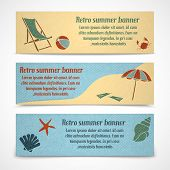 Summer vacation banners horizontal
