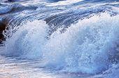 Big crashing wave in a stormy ocean
