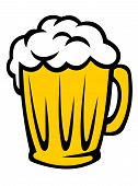 Tankard full of golden frothy beer