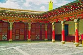 Entrance To A Tibetan Gompa, Oil Paint Stylization