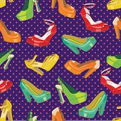Colorful Fashion Women's High Heel Shoes.vector Fashion Illustration