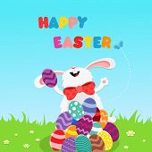 Bunny Celebrating Easter