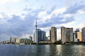 picture of urbanisation  - Toronto city waterfront skyline in late afternoon - JPG