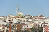 Cityscape Over Istanbul With Mosque