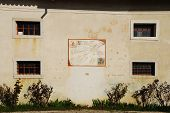 stock photo of sundial  - A wall on the exterior of the Friulian Farming Culture Museum  - JPG
