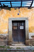 Ruined House Door In Antigua Guatemala