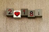 Love for 2018, Sign Series for Calendar Years and Dates.