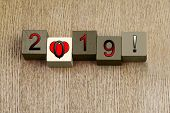 Love for 2019, Sign Series for Calendar Years and Dates.