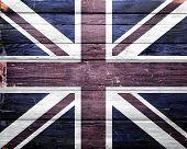 United Kingdom Flag Grunge Background