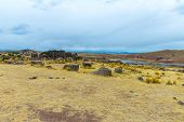 foto of urn funeral  - Funerary towers in Sillustani PeruSouth America - JPG