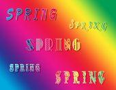 Spring rainbow fone.
