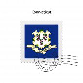 State of Connecticut flag postage stamp.