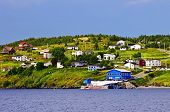 Quaint seaside fishing village in Newfoundland Canada