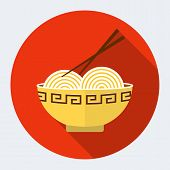 Noodles flat icon