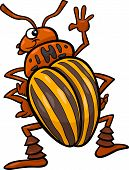 stock photo of potato bug  - Cartoon Illustration of Funny Colorado Potato Beetle Insect Character - JPG