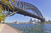 Sydney Harbour Bridge with City Skyline, Sydney, Australia