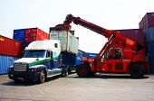Forklift Truck Crane Container To Trailer,vietnam Depot