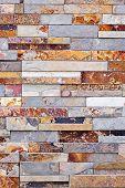 Background of natural slate stone veneer wall